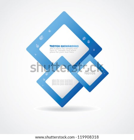 Stylish digital vector design. Blue banner with water drops.