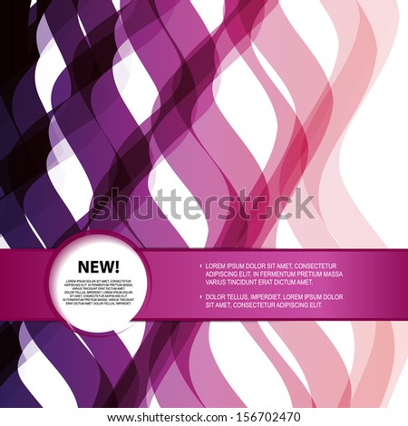 Stylish fashion card of business poster with banner for info - stock vector
