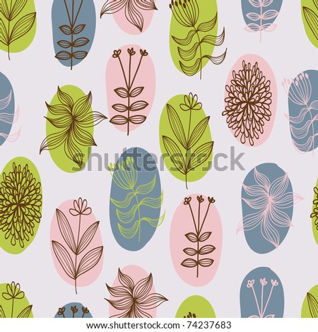 Stylish floral seamless pattern - stock vector