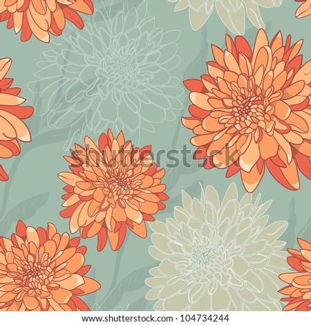 Stylish Floral Wallpaper. Seamless. Elegant Retro Style - stock vector