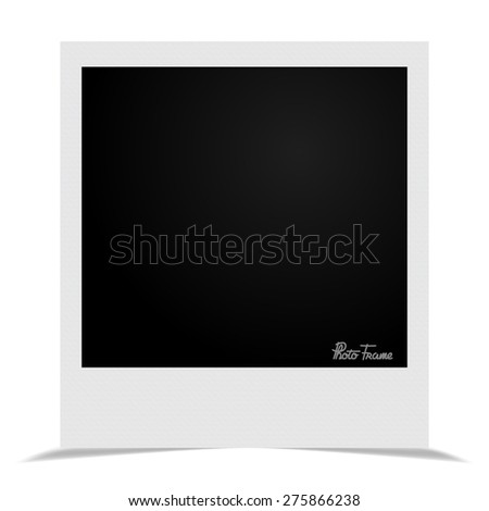 Stylish frame with shadow vector illustration