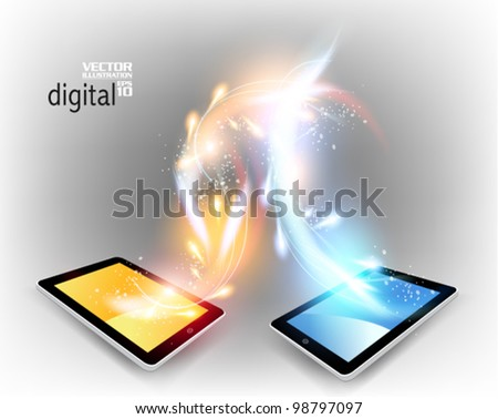 stylish futuristic tablet concept design
