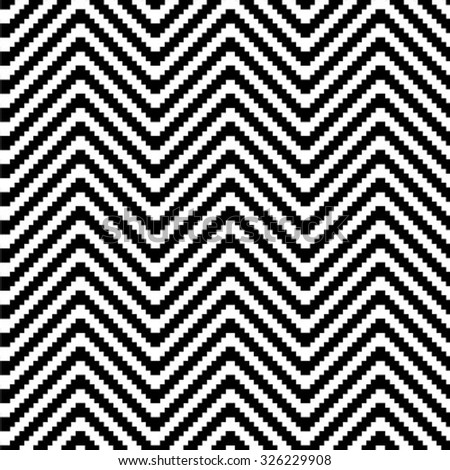 Stylish geometric texture in the form of waves. Repeating lines. Seamless stepped chevron pattern.