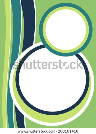 Stylish green presentation of business poster
