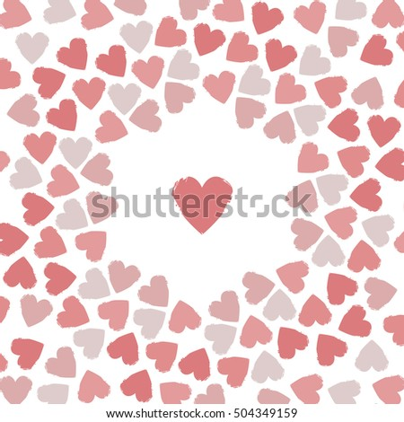 Stylish greeting card hearts stylish frame stock vector 504349159 stylish greeting card with hearts stylish frame can be used for wedding invitations valentines m4hsunfo