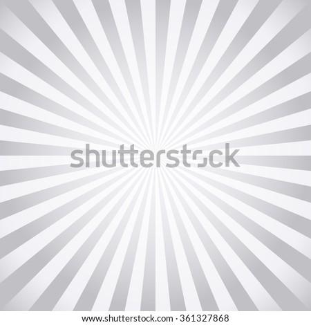 Stylish grey abstract starburst & sunburst background (NO TRANSPARENCY) - stock vector