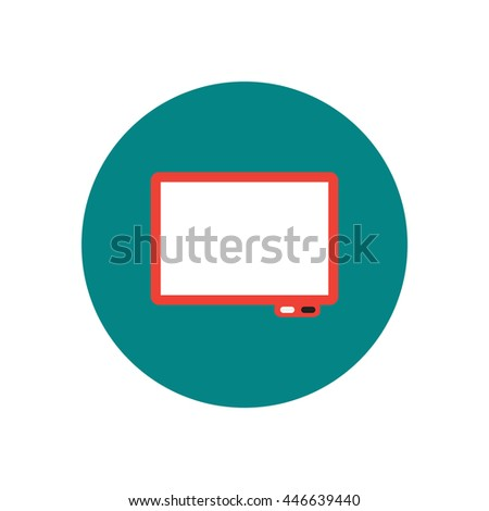 stylish icon in  circle Business interactive whiteboard - stock vector