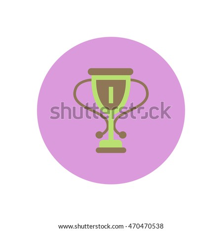 stylish icon in color  circle cup winner