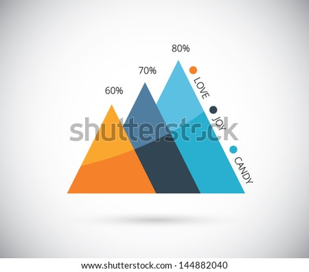 Stylish infographic graph vector eps10 - stock vector