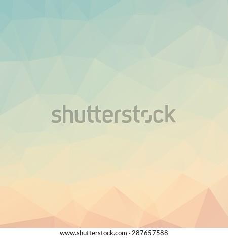 Stylish light blue orange mosaic vector abstract background - stock vector