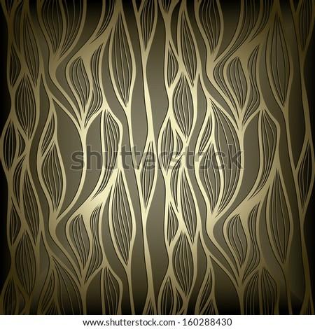 Stylish modern abstract  wallpaper, light golden design - stock vector