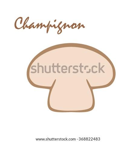 stylish mushroom symbol logo template vector stock vector royalty