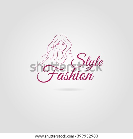 Stylish original hand-drawn portrait with beautiful young girl model for design. Fashion, style, beauty. Graphic, sketch drawing - stock vector