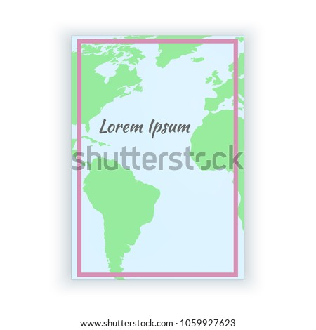 Stylish paper blank world map pink stock vector 1059927623 stylish paper blank with world map and pink frame vector template illustration print web gumiabroncs Image collections