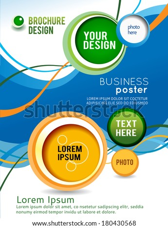 Stylish presentation of business poster, magazine cover, design layout template - stock vector