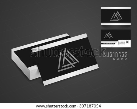 Stylish professional business or visiting card design with two sided presentation. - stock vector