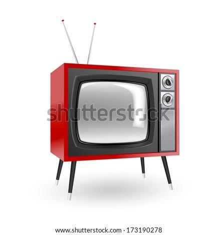 Stylish retro TV. More TV in my portfolio - stock vector