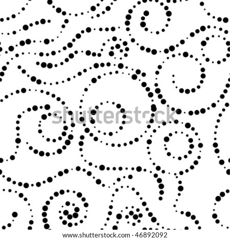 stylish seamless dot background - stock vector
