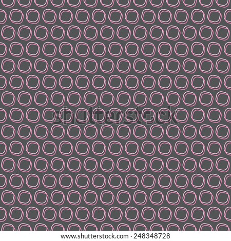 Stylish seamless vector background, easy change colors in swatches. - stock vector