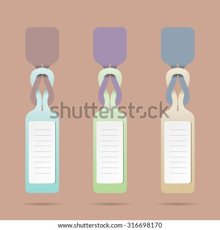 stylish set of tags. elements for business charts records. sign, sticker - stock vector