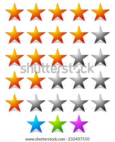 Stylish star rating template - stock vector