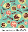 Stylish sweet seamless pattern in vector - stock vector