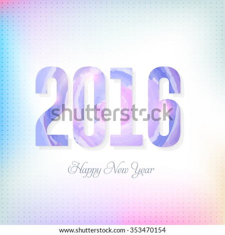 Stylish Text 2016, Happy New Year Abstract Background