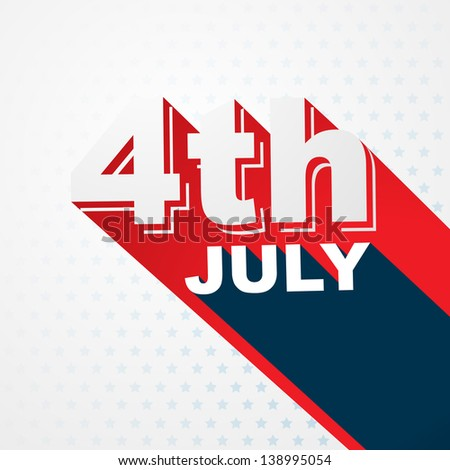stylish 4th of july text design - stock vector