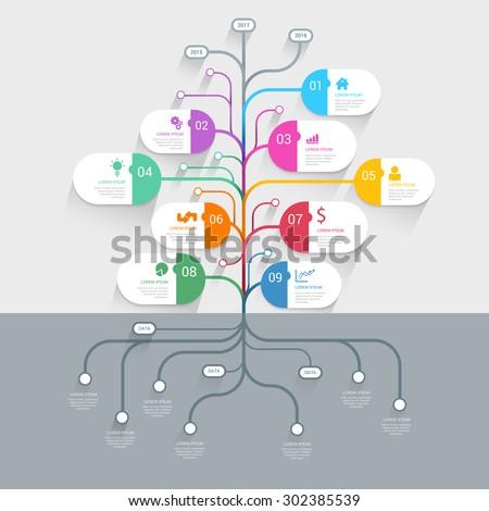 Stylish tree timeline process history mindmap stock vector 302385539 stylish tree timeline process history mindmap business infographics template mockup web site infographic background concepts wajeb Choice Image