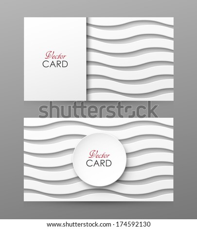 Stylish vector business cards - stock vector
