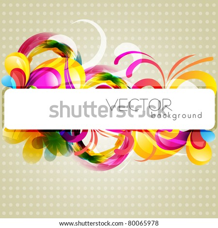 stylish vector floral background design