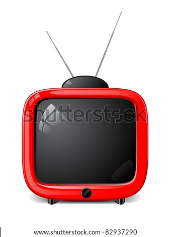Stylish vector TV - stock vector