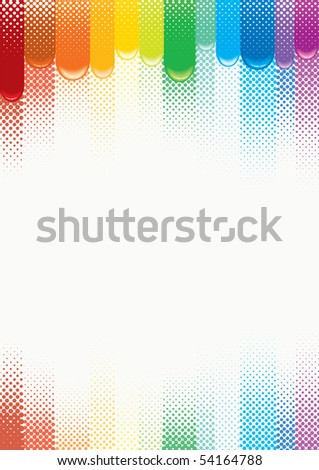 Stylized Abstract Colors, Vector Vertical Background - stock vector