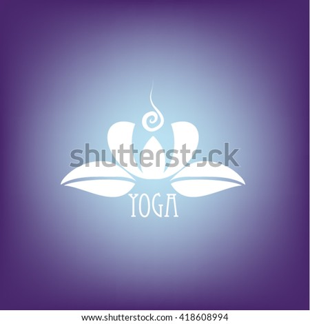 Stylized abstract lotus symbol. Vector icon. - stock vector
