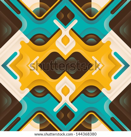 Stylized abstraction. Vector illustration. - stock vector