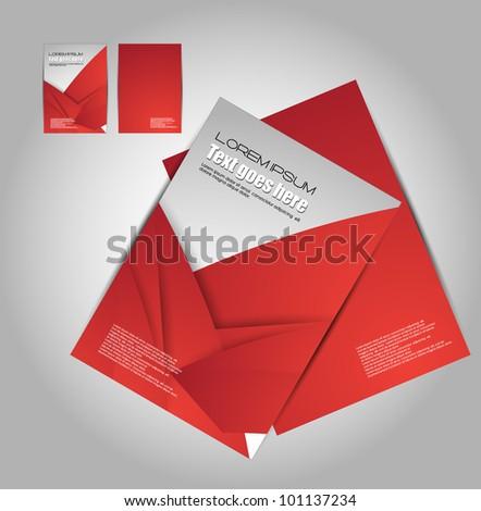 stylized brochure design - stock vector
