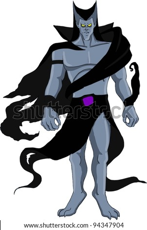 Stylized character design of an evil villain - stock vector