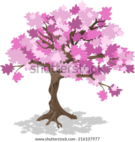 Stylized Cherry Blossom Tree