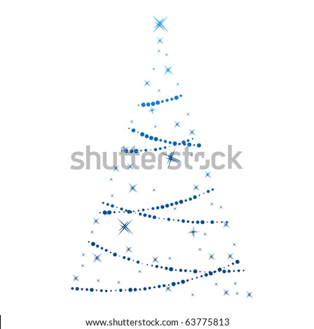 Stylized christmas tree isolated