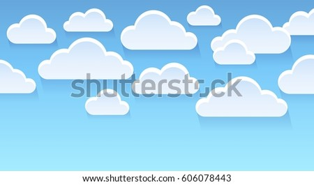 Stylized clouds theme image 2 - eps10 vector illustration.
