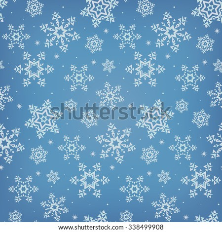 stylized color vector snowflakes pattern - stock vector