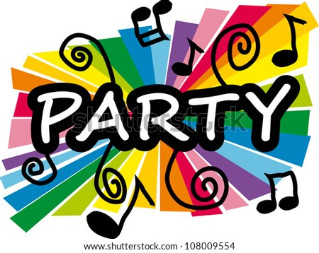 Stylized colorful illustration representing party - stock vector