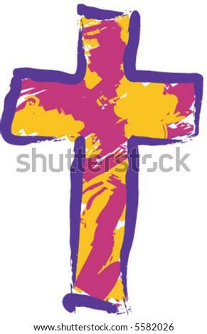 Stylized Cross - stock vector