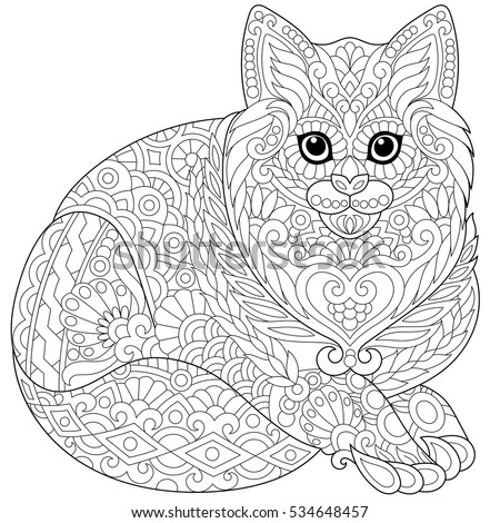 Freehand Sketch For Adult Anti Stress Coloring Book