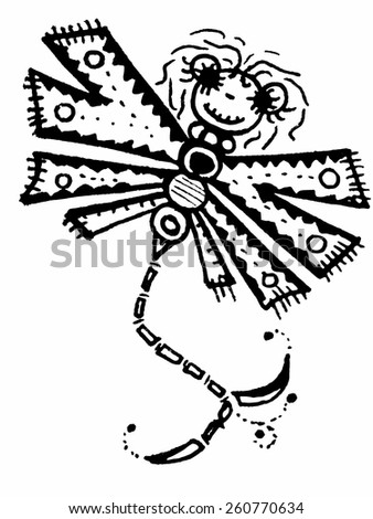 Stylized dragonfly - vector