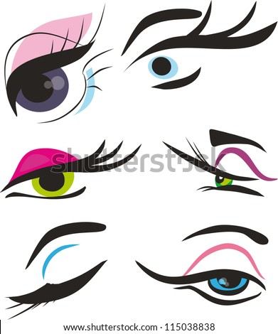 Stylized eye-lash icon such logo, - stock vector