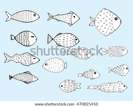 Fish sketch stock images royalty free images vectors for White river fish market menu