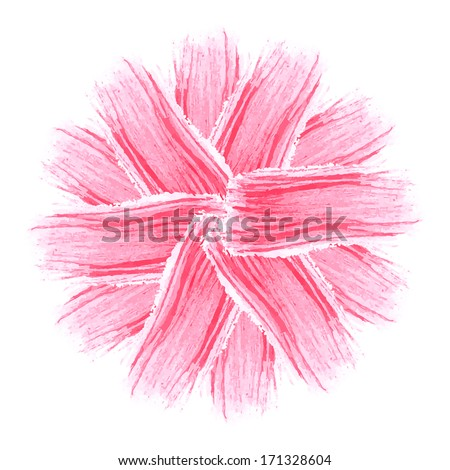 Stylized flower. Abstract floral background.  Watercolor floral illustration. Floral decorative element