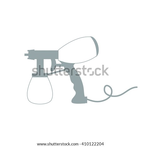 Stylized icon of a colored airbrush on a white background - stock vector