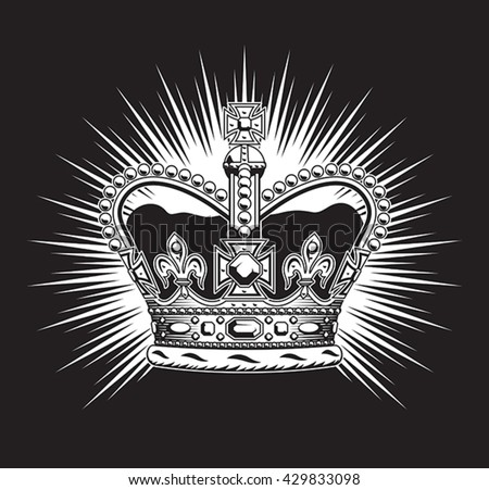 Stylized illustration of the imperial state crown.